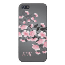 Cherry blossom (Sakura) Monogram iPhone SE/5/5s Cover