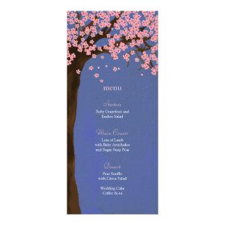 Cherry Blossom Sakura (Night) Watercolor Menu Card