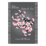 Cherry blossom (Sakura) on a light gray background Large Business Cards (Pack Of 100)