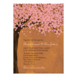 Cherry Blossom Sakura (Sunset) Watercolor Wedding Personalized Announcement