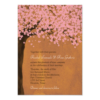 Cherry Blossom Sakura (Sunset) Watercolor Wedding Personalized Announcement