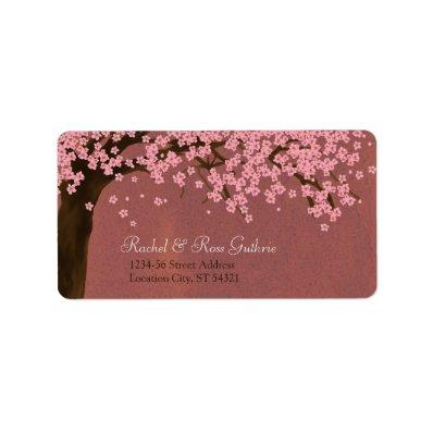 Cherry Blossom / Sakura Watercolor (Dusk) Address Personalized Address Labels