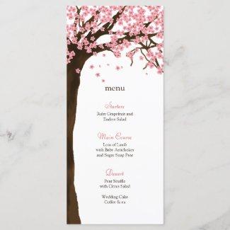 Cherry Blossom / Sakura Watercolor Menu Card