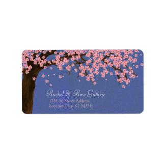 Cherry Blossom / Sakura Watercolor (Night) Address Label