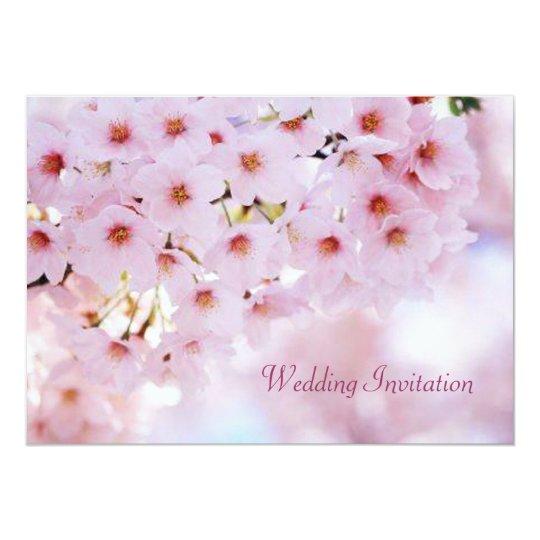 Cherry blossom Sakura Wedding Invitation