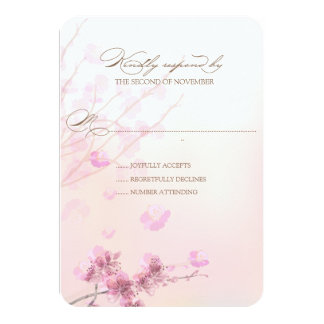 Cherry Blossom/Sakura Wedding RSVP Cards