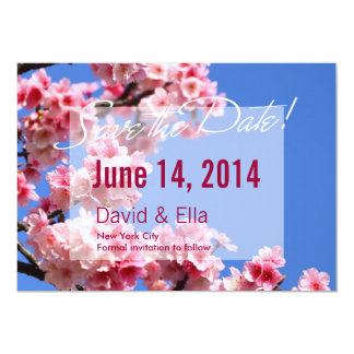 Cherry Blossom Save the Date Announcement