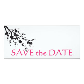 cherry blossom; save the date card