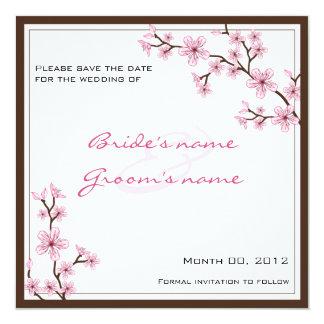Cherry Blossom Save the Date cards Custom Invite