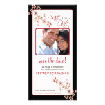 Cherry Blossom Save the Date Photocard (red/black) Card