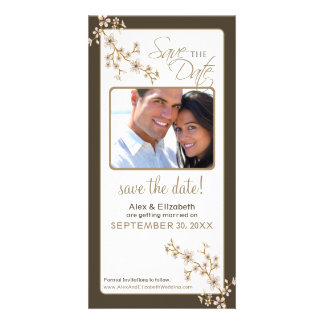 Cherry Blossom Save the Date Photocard (taupe) Photo Card
