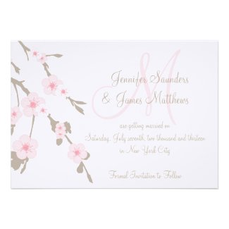 Cherry Blossom Save the Dates