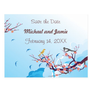 Cherry Blossom - Save the Date Postcard