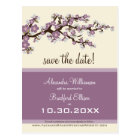 Cherry Blossom Save the Date Postcard (lilac)