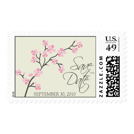 Cherry Blossom Save-the-Date Wedding 2 :: pink Postage
