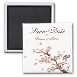 Cherry Blossom Save the Date Wedding Magnets