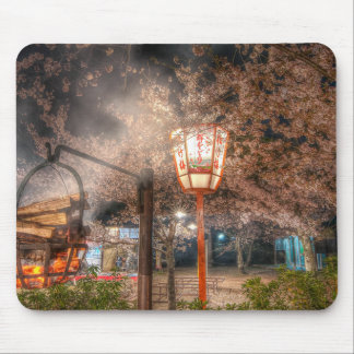 Cherry Blossom season in Maruyama Park, Kyoto Mouse Pad