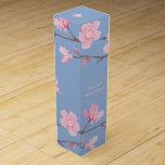 Cherry Blossom - Serenity Blue - Happy Birthday Wine Box