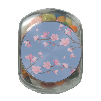 Cherry Blossom - Serenity Blue Jelly Belly Candy Jar