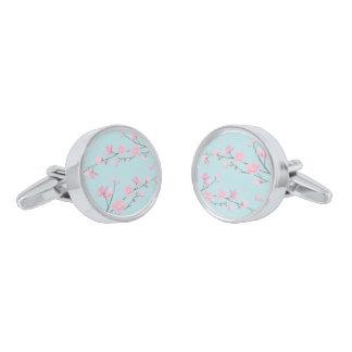 Cherry Blossom - Sky Blue Cufflinks