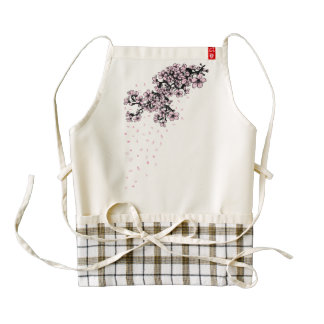 Cherry blossom Spring flowersZazzle HEART Apron