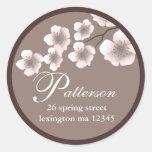 Cherry Blossom Springtime Address Label Sticker