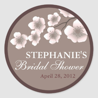 Cherry Blossom Springtime Bridal Shower Label
