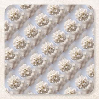 Cherry Blossom Square Paper Coaster