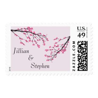 Cherry Blossom Stem - Postage Stamp
