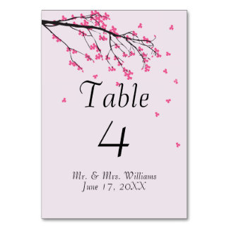 Cherry Blossom Stem - Table Card