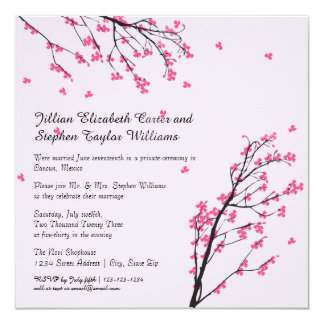 Cherry Blossom Stem - Wedding Announcement