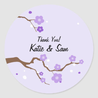 Cherry Blossom Stickers Purple