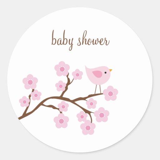 Cherry Blossom Stickers Round Stickers