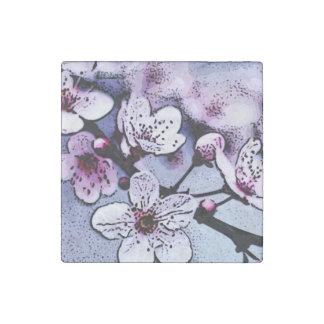 Cherry blossom stone magnet