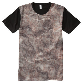 Cherry Blossom Stone Pattern Background - Stunning All-Over-Print T-Shirt