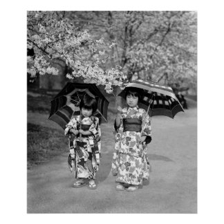 Cherry Blossom Stroll, 1925 Poster