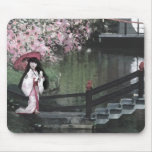 Cherry Blossom Stroll Mouse Pad