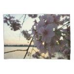 Cherry Blossom Sunset in Washington DC Pillowcase