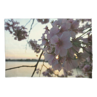 Cherry Blossom Sunset in Washington DC Pillowcase