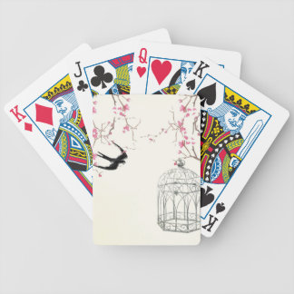 Cherry blossom, swallow, birdcage design bicycle playing cards