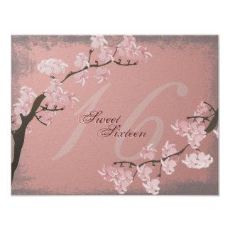 Cherry Blossom Sweet 16 Birthday Party Invitation