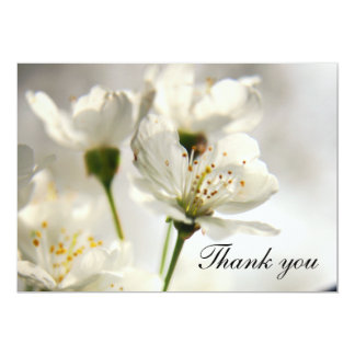 Cherry Blossom Thank you card announcement