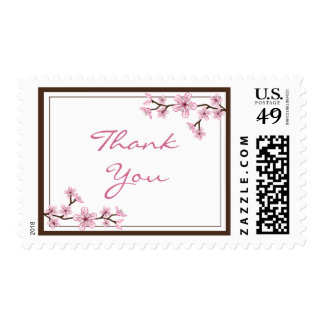 Cherry Blossom Thank You Stamps