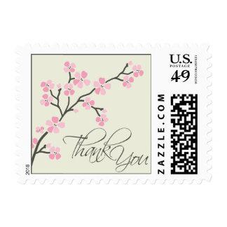 Cherry Blossom Thank You Wedding Stamp 2 :: pink
