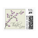Cherry Blossom Thank You Wedding Stamp 2 :: plum