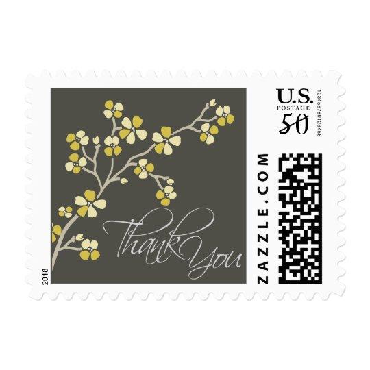 Cherry Blossom Thank You Wedding Stamp :: citrus