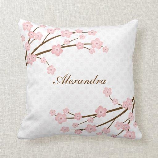 Throw Pillow Zazzle : Cherry Blossom Throw Pillow Zazzle