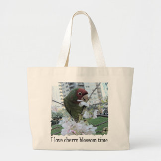 Cherry Blossom Time Large Tote Bag
