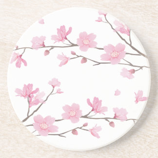 Cherry Blossom - Transparent-Background Drink Coaster