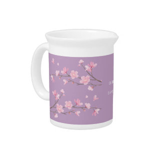 Cherry Blossom - Transparent-Background Drink Pitcher